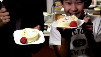 Strawberry Kiwi Roll Cake Written Recipe!