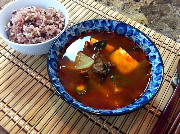 Korean Spicy Beef Radish Soup