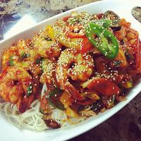 Korean Spicy Stir-fried Shrimp with Somyeon Written Recipe