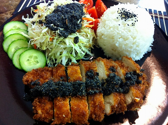 Chicken Katsu and Black Sesame Dressing Written Recipe!!