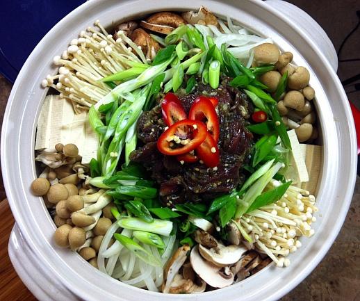 Bulgogi Jeongol (Korean Beef Hot Pot) Recipe & Video