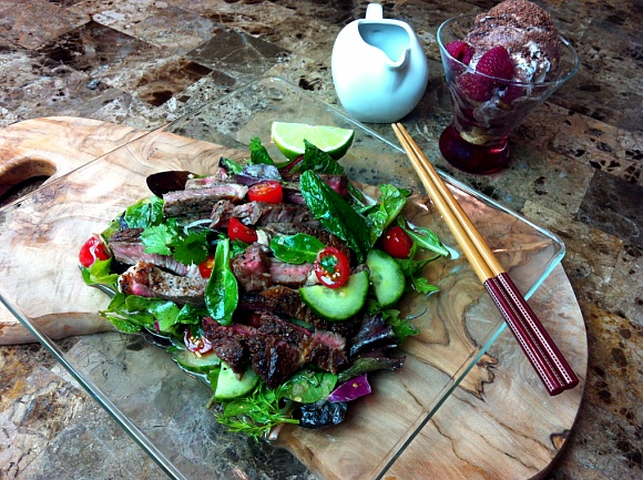 Thai Beef Salad and Affogato – Sexy Dinner for Two!