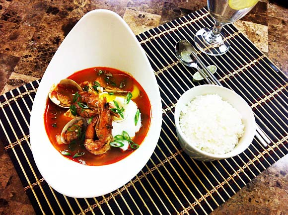 Soup Recipe : Silken Tofu Soup with Seafood Written Recipe (Soups) : Korean Cuisine : Asian at Home