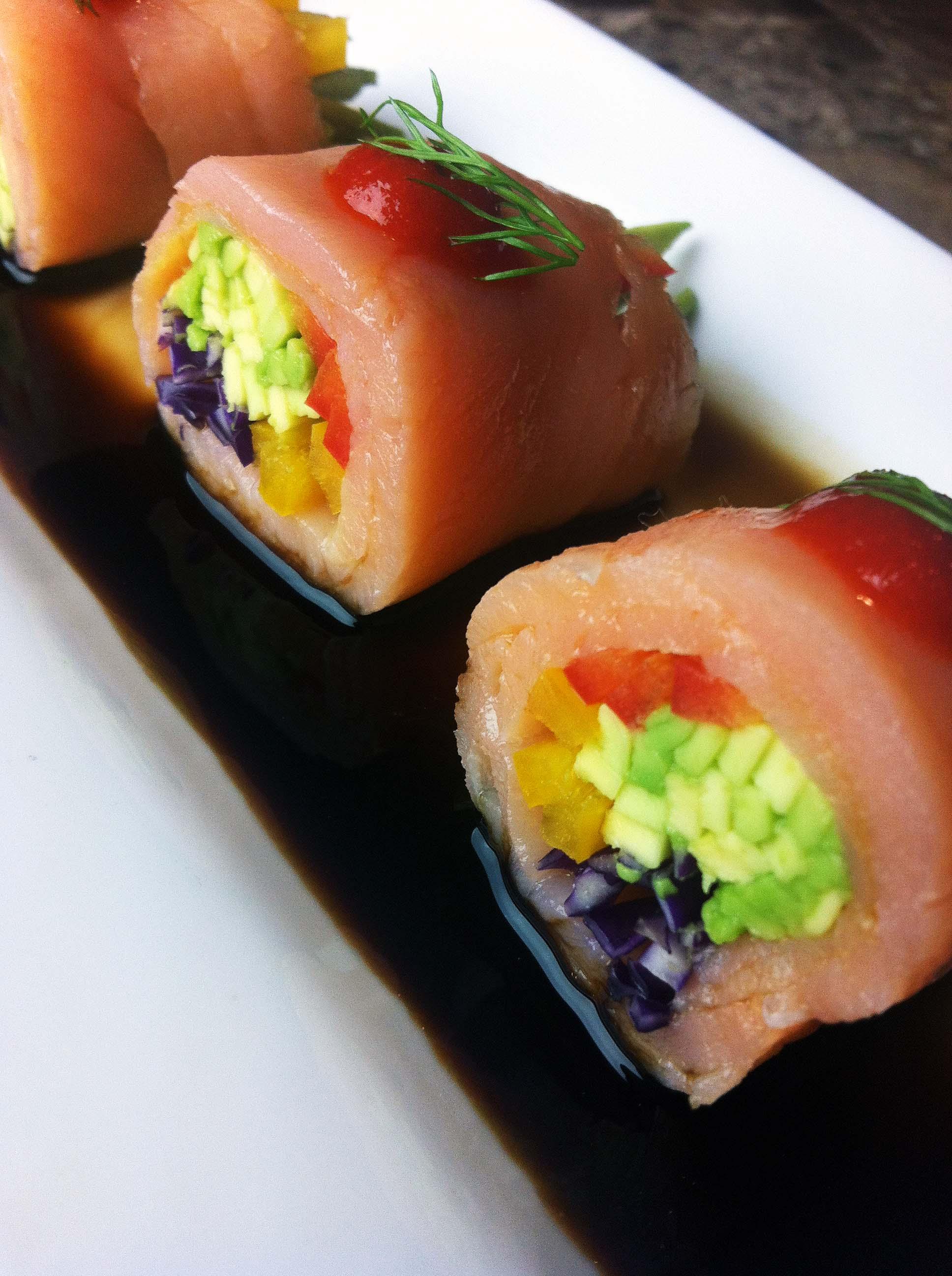 Korean Salmon Rolls