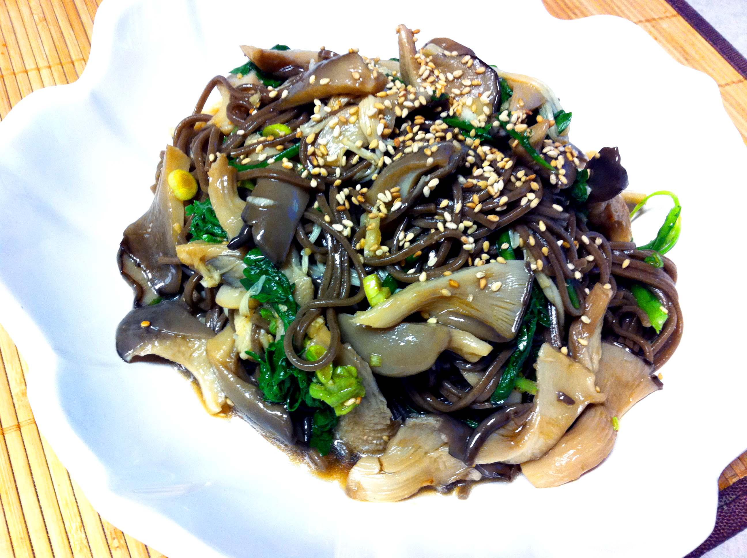 Vegetarian Recipe- Vegetarian Buckwheat Noodle Salad