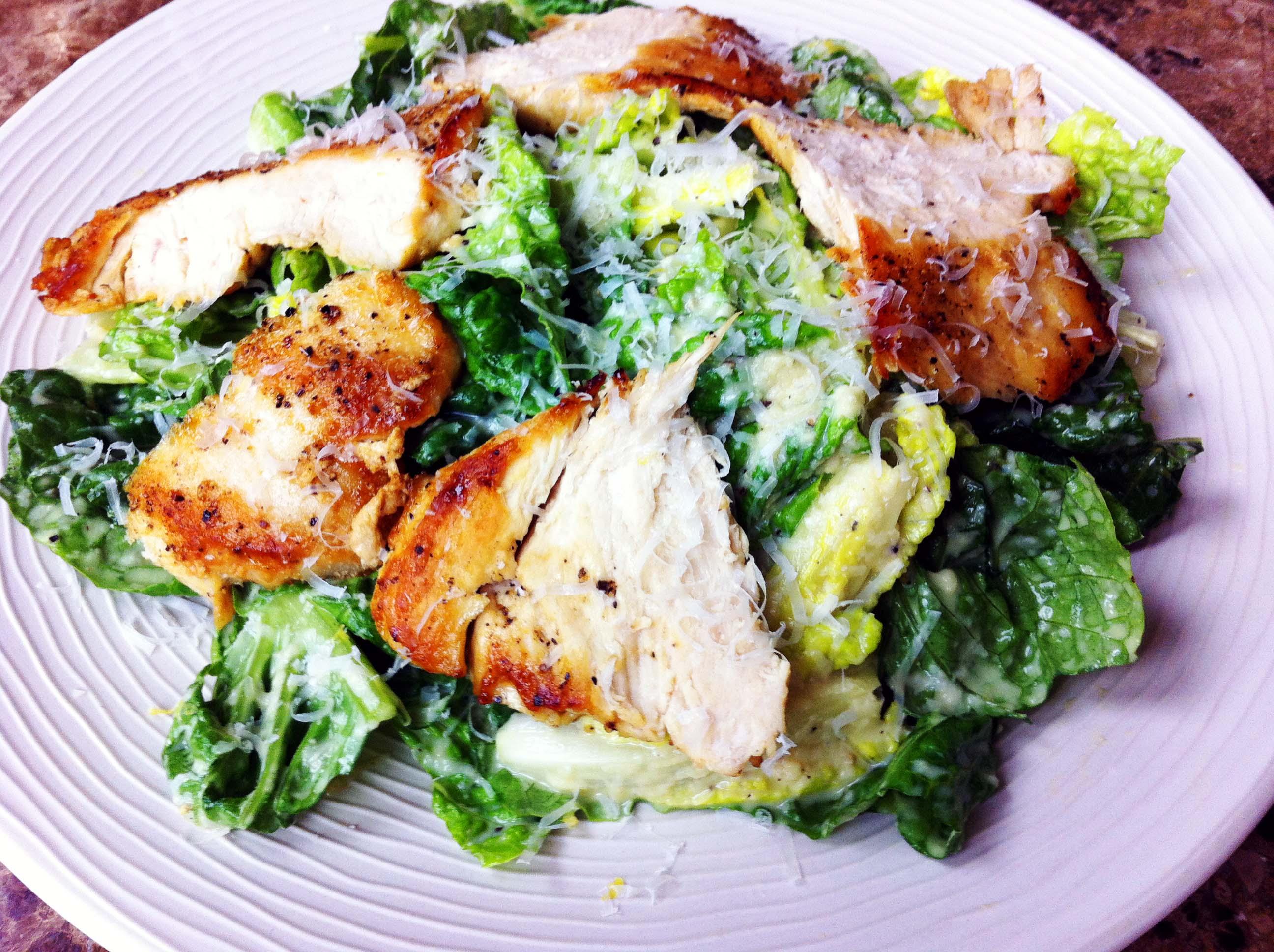 Salad with Chicken : Caesar Salad : Chicken Caesar Salad with Homemade Dressing : Salad Recipes