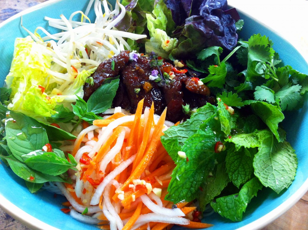 Lemongrass Pork With Vietnamese Table Salad Recipes — Dishmaps