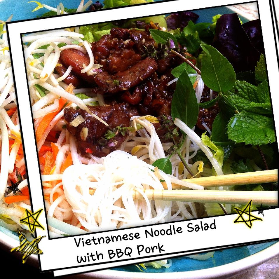 Lemongrass Pork With Vietnamese Table Salad Recipe — Dishmaps
