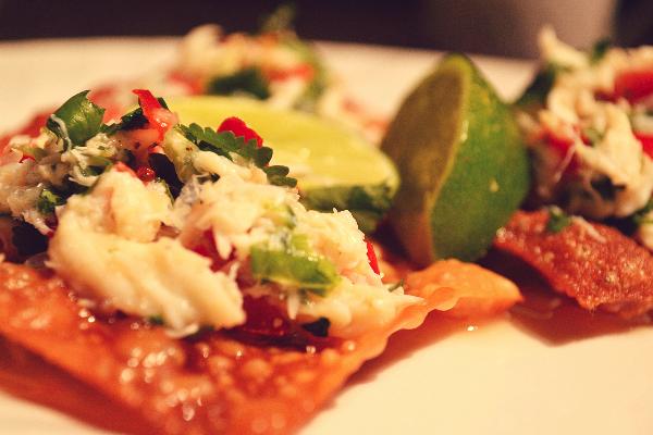 Recipe : Food Network Recipe : Crab Salad with Crispy Wonton Recipe