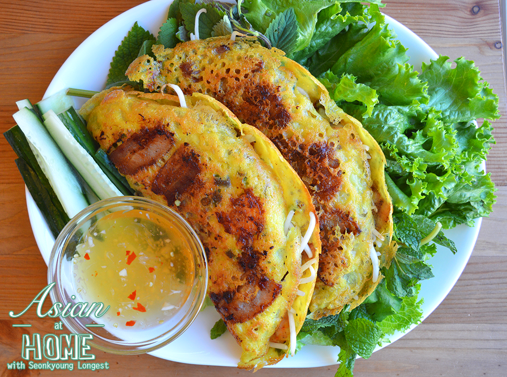 Bánh Xèo Vietnamese Sizzling Crepes Recipe & Video - Seonkyoung Longest