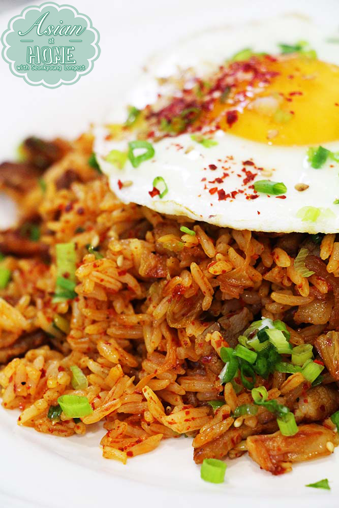 Best kimchi fried rice recipe asian at home i used jasmine rice which is not regular for kimchi fried rice because in korea we eat short grain rice as everyday rice so of course using cooked short ccuart Image collections