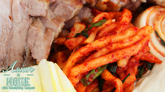 Bossam Radish Kimchi Recipe : Quick Radish Kimchi Recipe