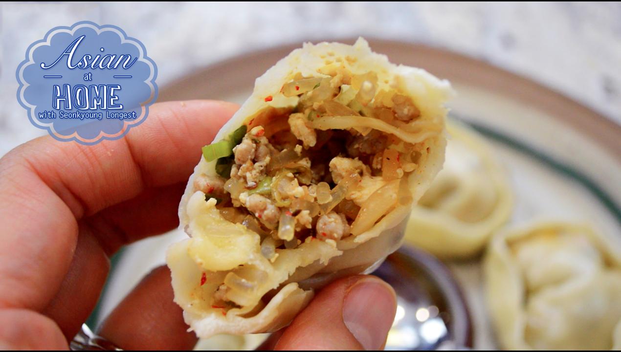 Kimchi Mandu Recipe : Korean Kimchi Dumplings