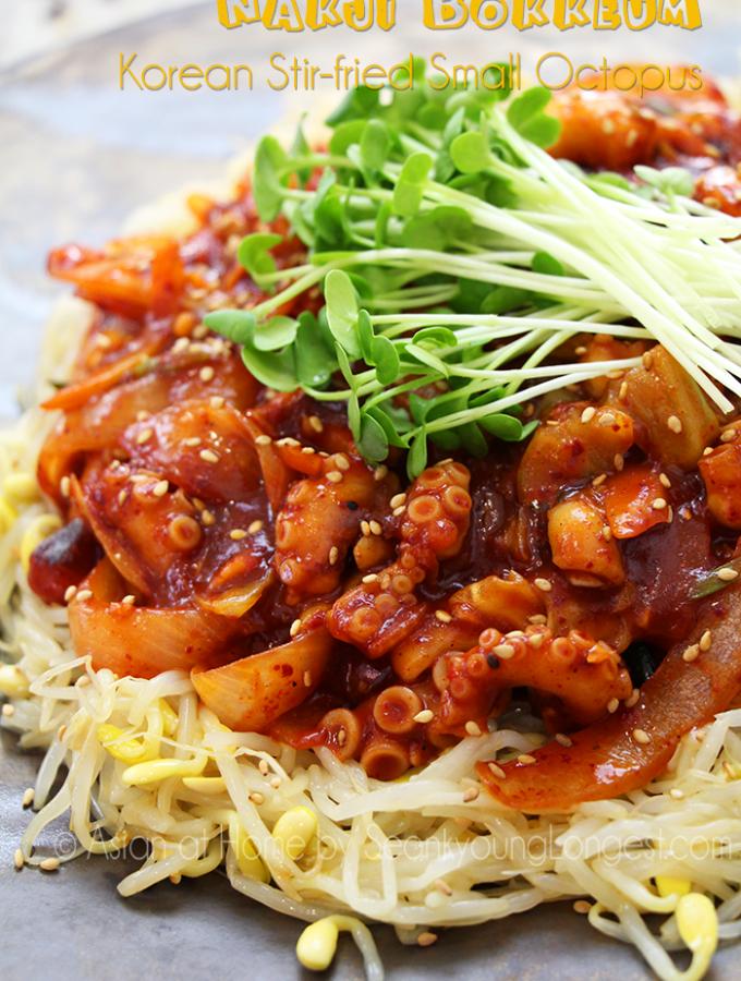 Nakji Bokkeum Recipe : Korean Spicy Stir-fry Octopus