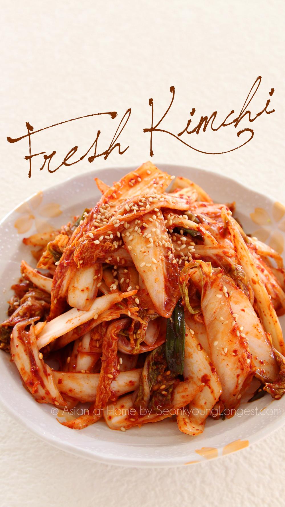 Korean Kimchi Manufacturer Mail: Instant Kimchi Recipe : Geot-Jeori : Korean Fresh Kimchi