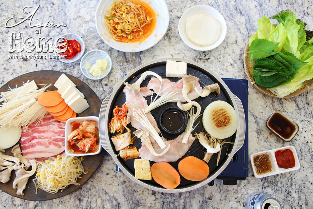 Samgyeopsal you can use any types of pan but if you go to korean