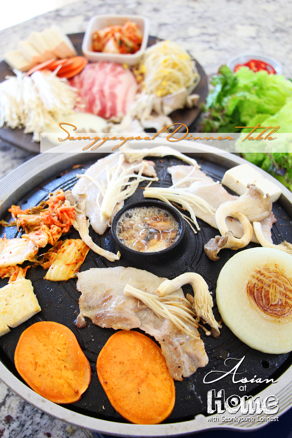 Samgyeopsal dinner table recipe video seonkyoung longest forumfinder Image collections