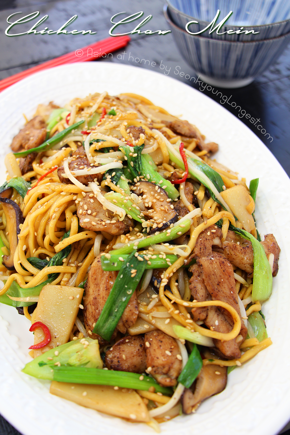 Easy chicken chow mein recipe video seonkyoung longest forumfinder Image collections