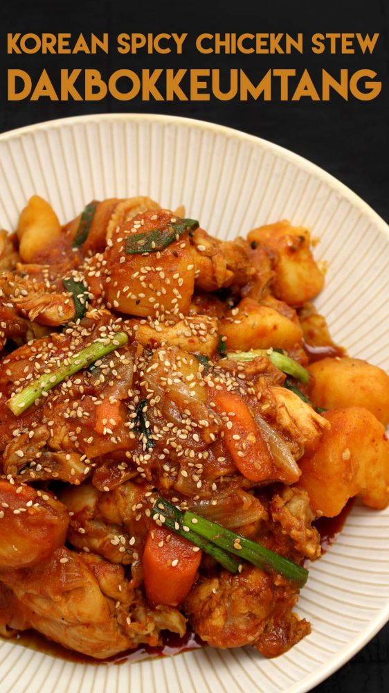 Dakbokkeumtang - Korean Spicy Chicken Stew Recipe & Video ...