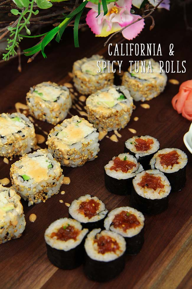 how to make spicy california rolls