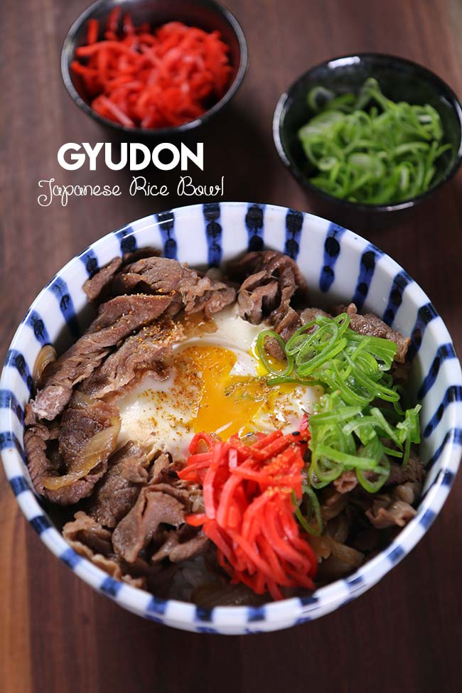 Easy Gyudon (Japanese Beef Rice Bowl) Recipe & Video ...