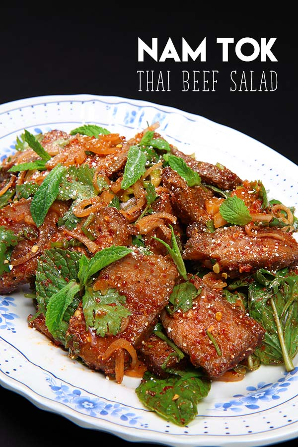 Thai beef salad nam tok recipe video seonkyoung longest for Different ways to make hamburger meat