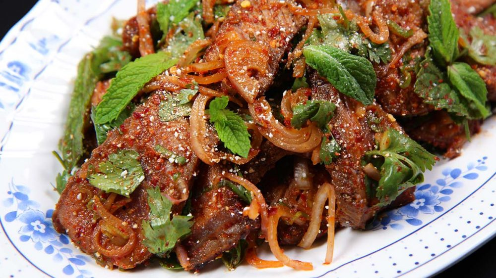 Thai beef salad nam tok recipe video seonkyoung longest as i mentioned issan style is more focusing on the meat and this dressing so for the key of this delicious nam tok is great quality steak forumfinder Images