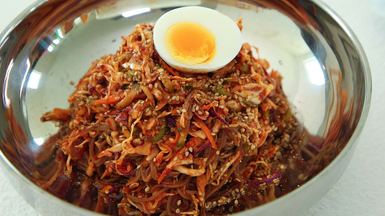 Spicy Cold Noodles Recipe Amp Video Seonkyoung Longest