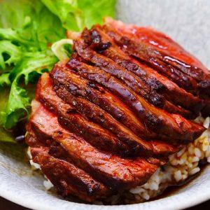Japanese steak rice bowl recipe video seonkyoung longest forumfinder Choice Image